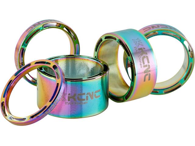 """KCNC Hollow Design Espaciador Dirección 1 1/8"""" 3/5/10/14/20mm, Multicolor"""